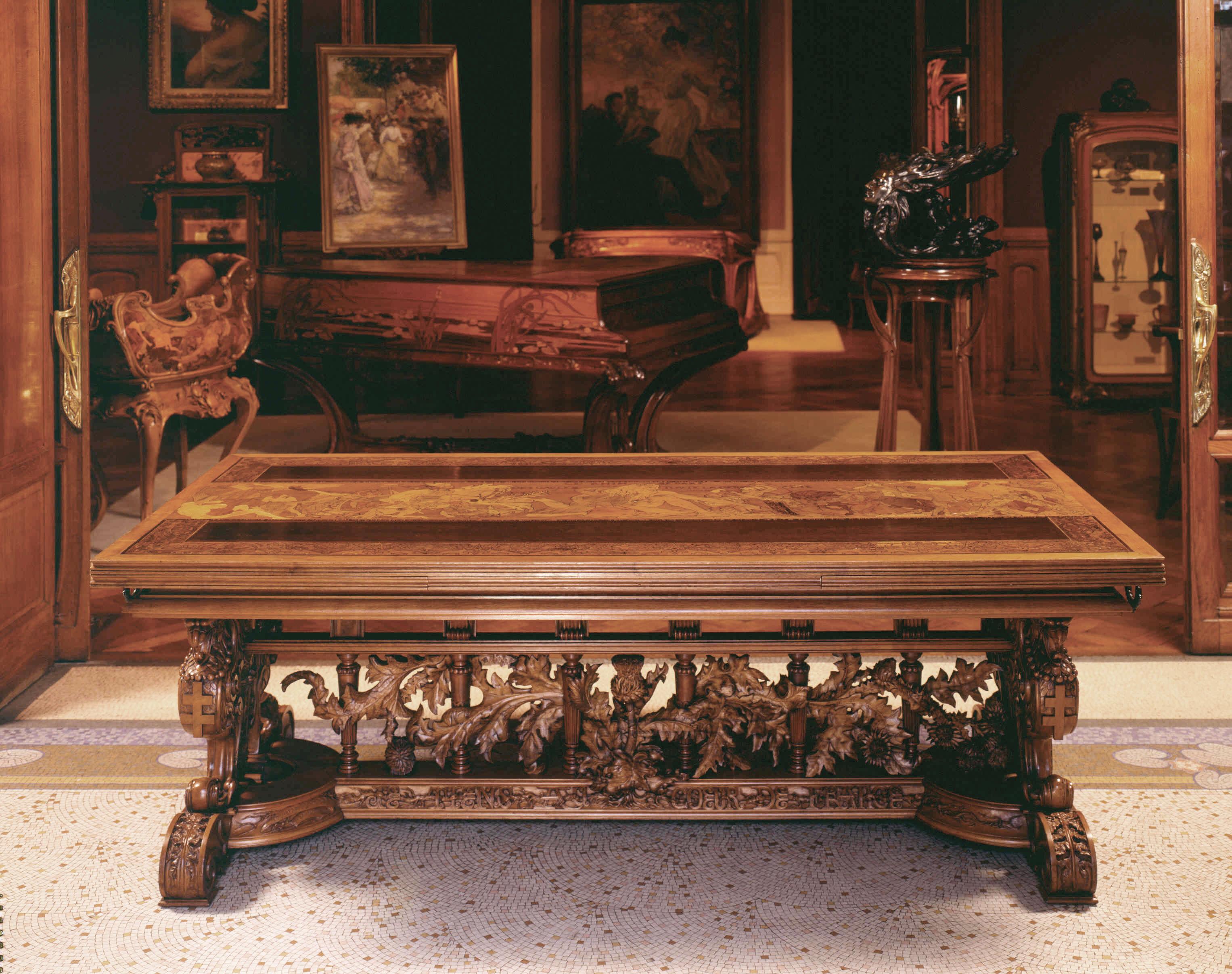 Gallé,-Table-Le-Rhin,-vue-générale,-MEN,-cliché-C-Philippot