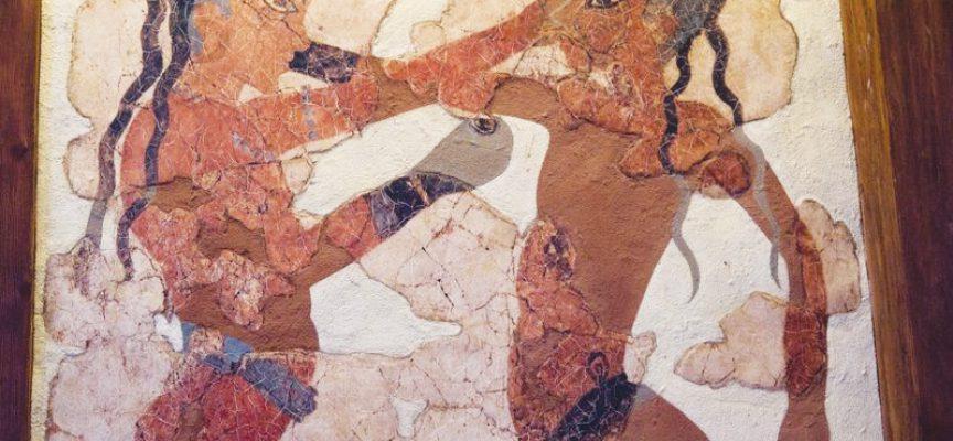 Fresque d'Akrotiri (© DR)