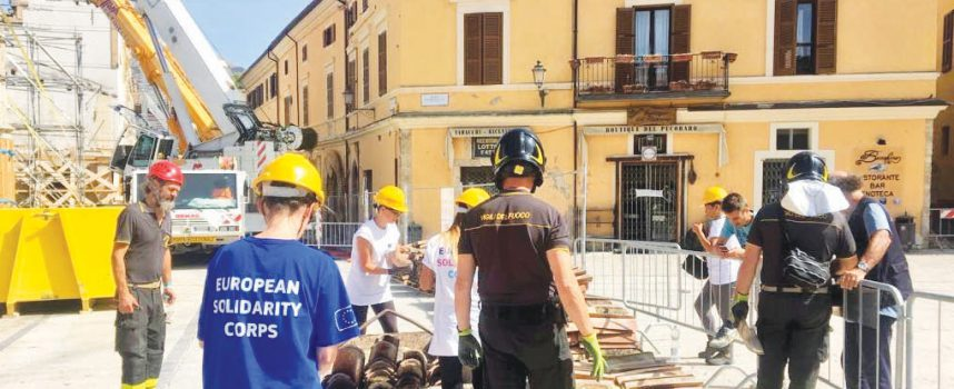 ITALIE LE CORPS EUROPÉEN DE SOLIDARITÉ