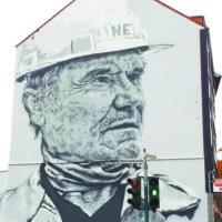Hommage mural à la sidérurgie