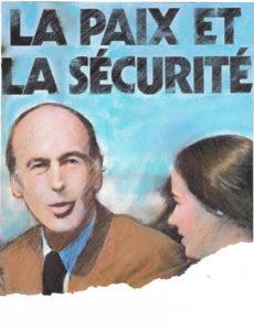 Affiche de campagne de Valéry Giscard d'Estaing